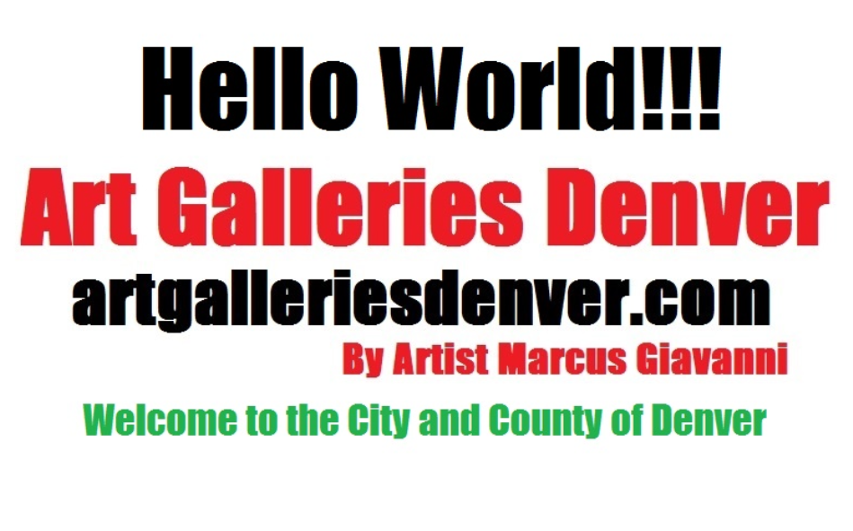Art Galleries located in the city and County of Denver
