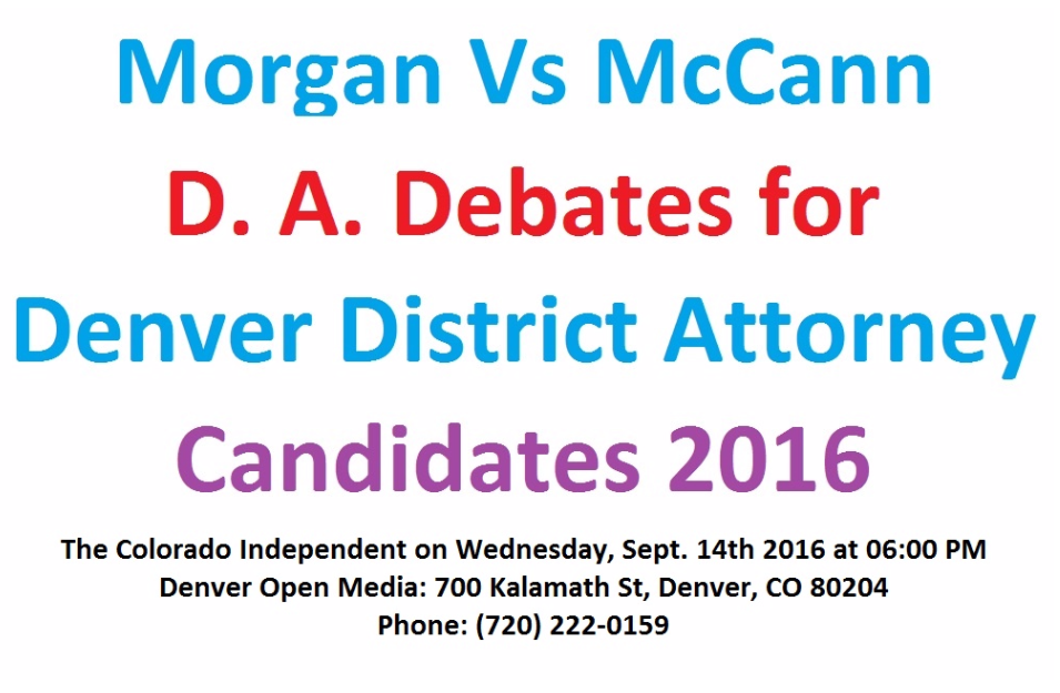 District Attorney Debates for the City and county of Denver