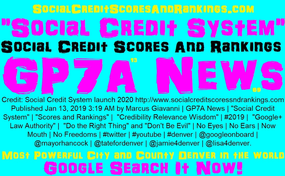 Social Credit System - Social Credit Scores And Rankings